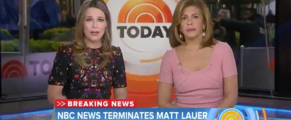 Savanah Guthrie Reacts to Matt Lauer Firing on Today Show