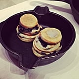We were won over by these mini blueberry pancakes at the American Eagle Summer preview.
