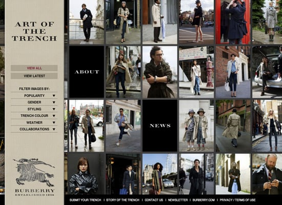 Burberry Launch Art of the Trench Social Networking Site
