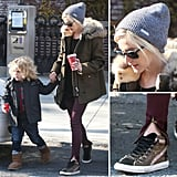 Get the coolest kind of Winter style, courtesy of Ashlee Simpson and her high-tops.