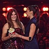 Sandra Bullock at the MTV Movie and TV Awards