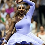 Serena Williams Wearing a Purple Tutu at the US Open in 2018