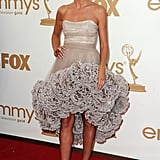 Heidi Klum in Christian Siriano at the Emmys.