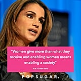 """Du """"Women give more than what they receive and enabling women means enabling a society"""" @QueenRania #GWFDubai #duGWF"""