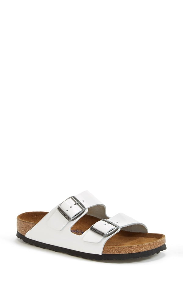 The Birkenstock sandal is back and here to stay. Our favorite style? These crisp white Arizona sliders ($135).