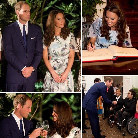 Prince William and Kate Middleton at Sinagpore Reception