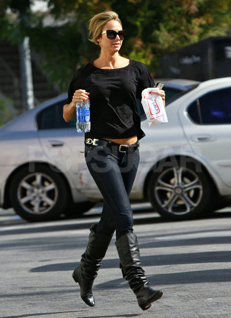 Stacy Keibler picked up some water.