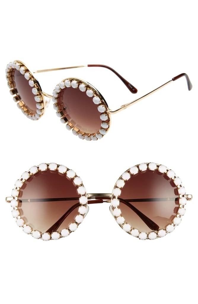 Rad + Refined Rhinestone Round Sunglasses | Taylor Swift Sunglasses
