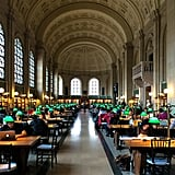 Walk through the architectural masterpiece of the Boston Public Library.