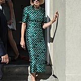 Anna Wintour Definitely Stood Out at Fashion Week in This Metallic Number