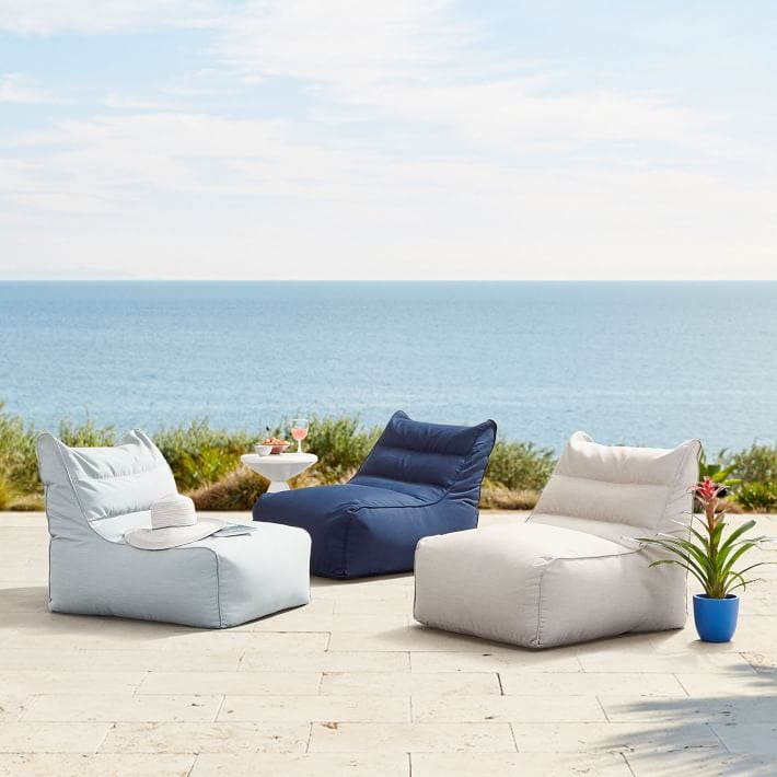 West Elm Sunbrella Outdoor Bean Bags
