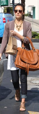 Jessica Alba Carries Chloe Bag