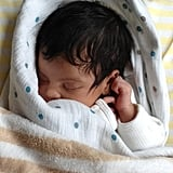 Blue Ivy Carter slept in a photo that Jay Z and Beyoncé shared shortly after her birth. Source: