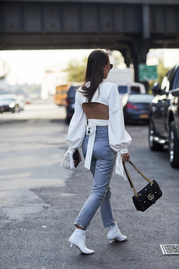 A Backless Top and Denim
