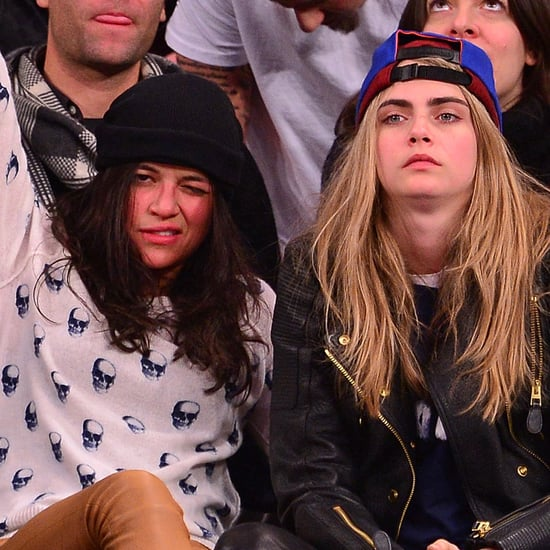 Cara Delevingne and Michelle Rodriguez at Knicks Game
