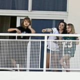 Johnny Admires the Miami View With Lily-Rose and Vanessa!