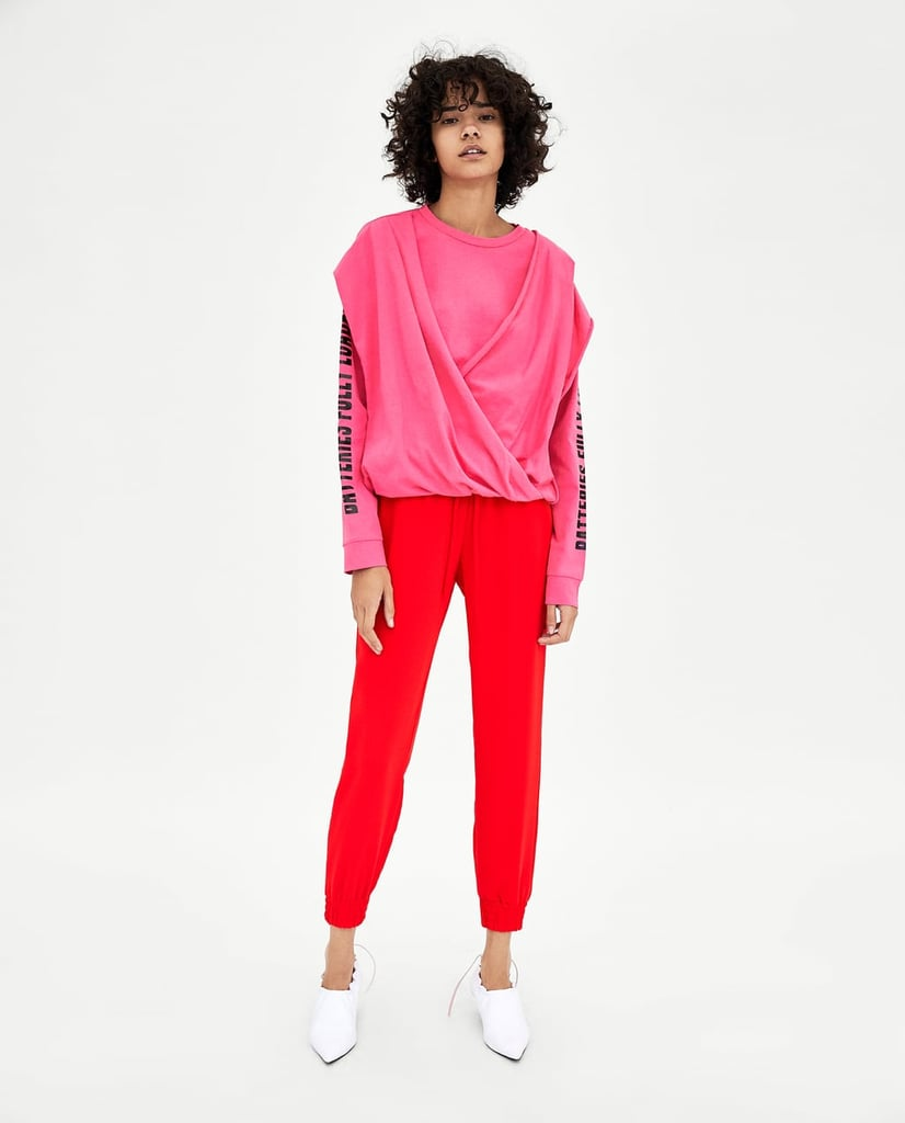 Zara Draped Cross Front T-Shirt