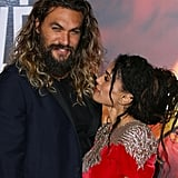 Jason Momoa and Lisa Bonet at the Justice League Premiere in November 2017
