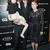 Alexander Skarsgard and Julianne Moore posed with their costar Onata Aprile.