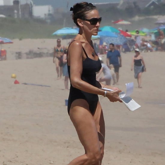 Sarah Jessica Parker on the Beach in Montauk June 2018