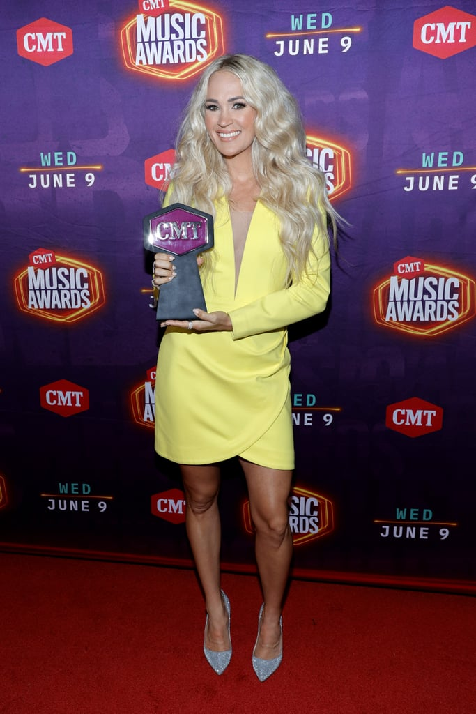 Carrie Underwood's Neon Yellow Dress at CMT Awards 2021
