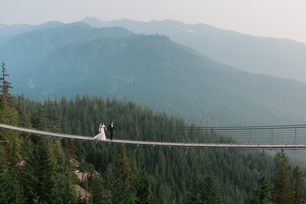 Caroline and Spencer traveled all the way from South Carolina to proclaim their love on top of a mountain in Canada. See the wedding here!