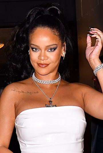 Rihanna's Black and Gold Drip Nail Polish