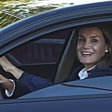 Queen Letizia Driving Princess Leonor to School Pictures