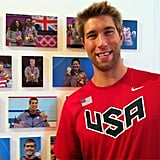 Matt Grevers found a photo of himself inside Team USA's London headquarters. Source: Twitter user MattGrevers