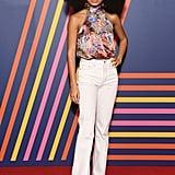 30bfb806 ... Yara Shahidi at the TOMMYNOW Tommy Hilfiger x Zendaya Show ...