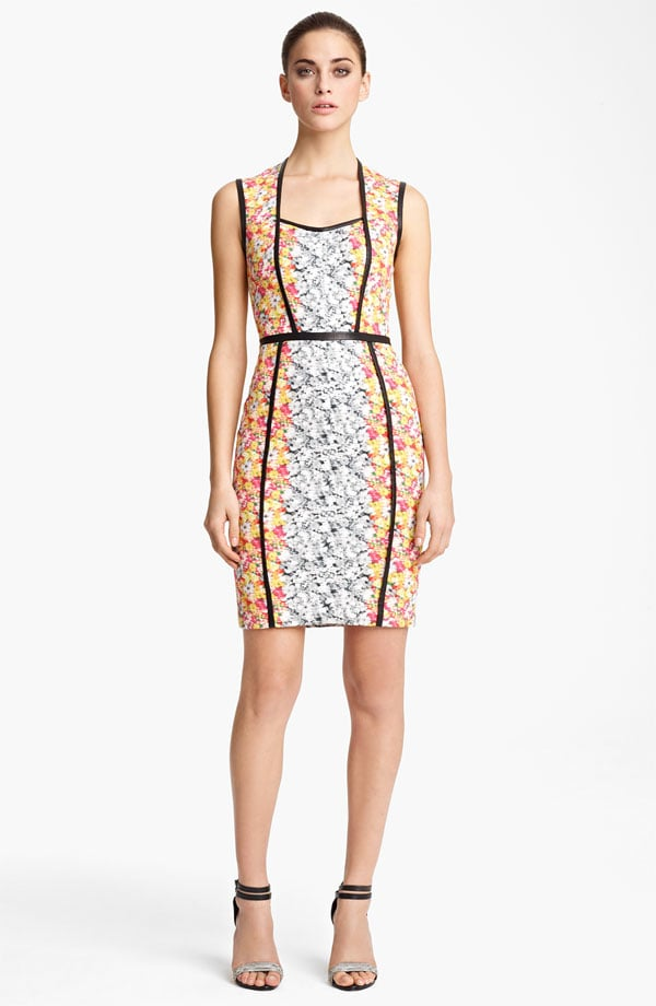 The seaming, structure, and strategic print (lighter in the middle, slightly darker outside to slim the hips) on this Yigal Azrouël Floral Ikat Georgette Dress ($995) add up to a killer cocktail dress.