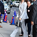 Anne Attended The Late Show With Stephen Colbert Wearing This Chic Pantsuit
