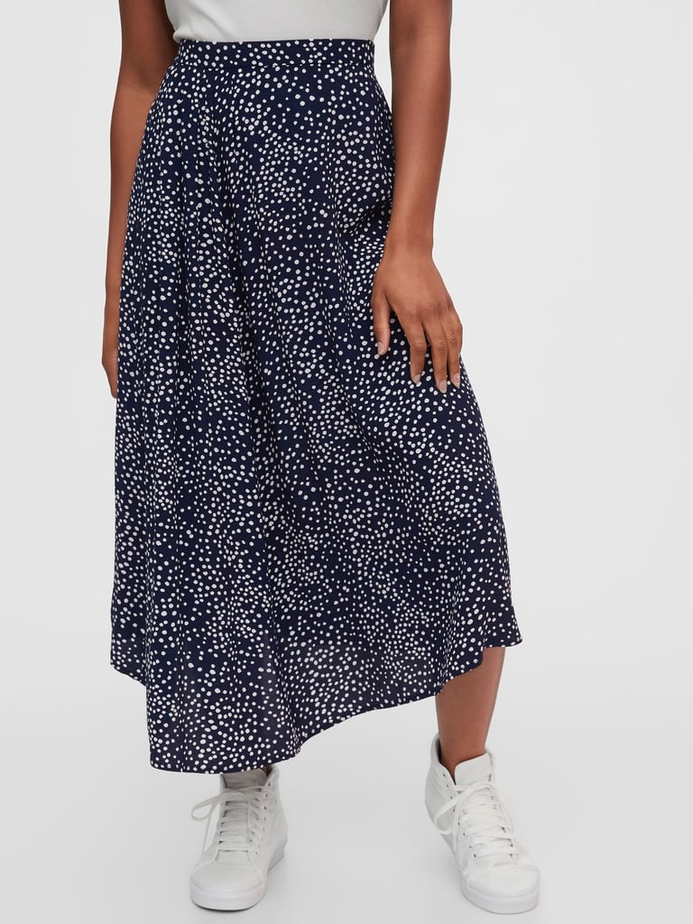 Gap Dipped Hem Midi Skirt
