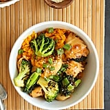 "Teriyaki Chicken and Broccoli With Sweet Potato ""Rice"""