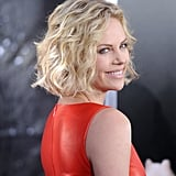 Charlize had perfectly tousled curls.
