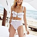 For Love and Lemons Elle High-Waist Bikini Bottoms