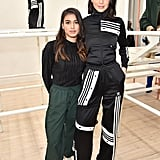 During New York Fashion Week, the model stepped out in a two-piece Adidas track suit which gave off the ultimate sporty vibes. She accessorised it with Gianvito Rossi white mules, thin black socks, and a pair of Roberi & Fraud shades. The look was unique — and we loved it.