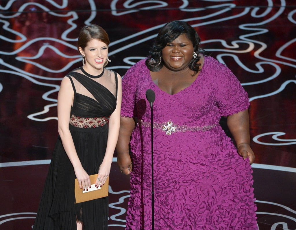 Anna Kendrick and Gabourey Sidibe presented together.
