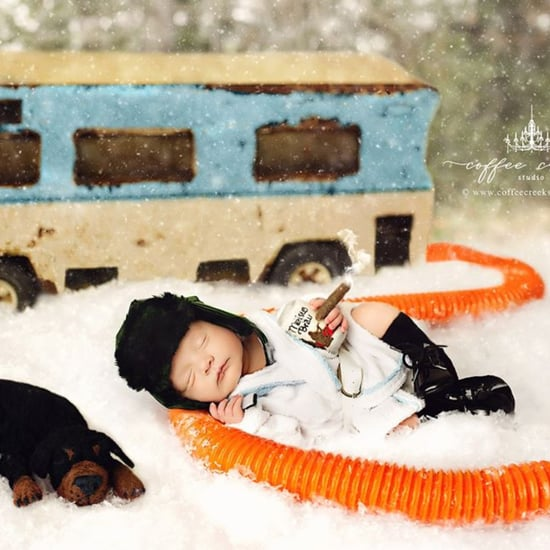 Christmas Vacation and A Christmas Story Newborn Photo Shoot