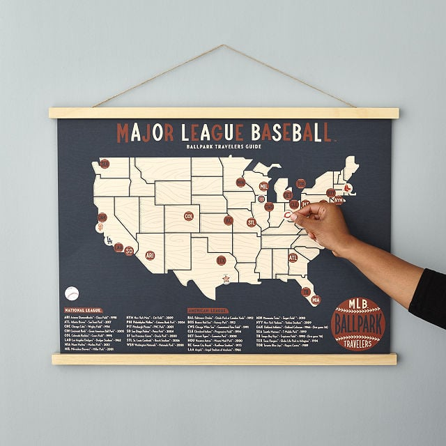 Baseball Stadium Screen Print Map