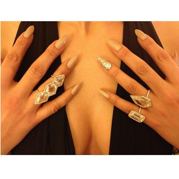 Jennifer Lopez showed off her afterparty jewels. Source: Twitter user JLo
