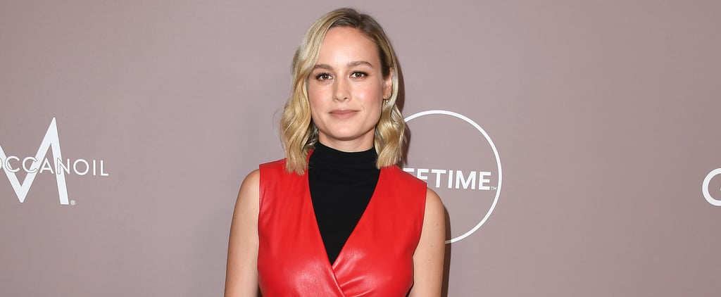 Brie Larson Holds a Pull-Up With a Weighted Chain
