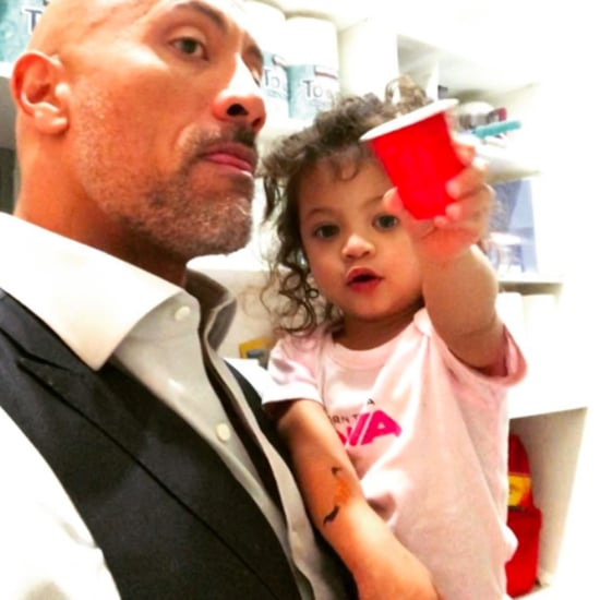 The Rock's Daughter Asking For Snacks