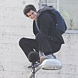 Andrew Garfield Doing Spider-Man Stunts Pictures