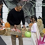 And they got to choose from not one, but two baskets of candy.