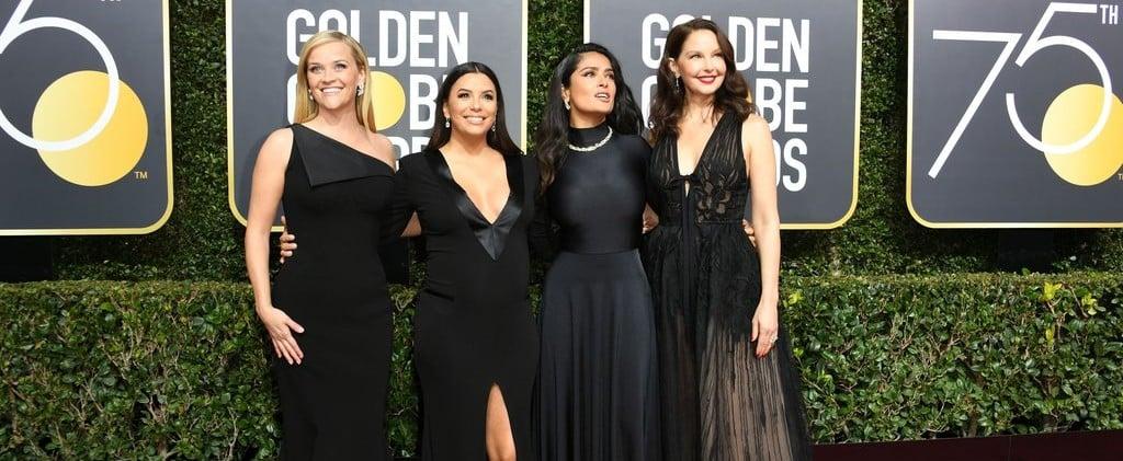 Celebrity Tweets About Wearing Black at Golden Globes 2018