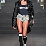 Joan Smalls Sported a Bodysuit and Booty Shorts
