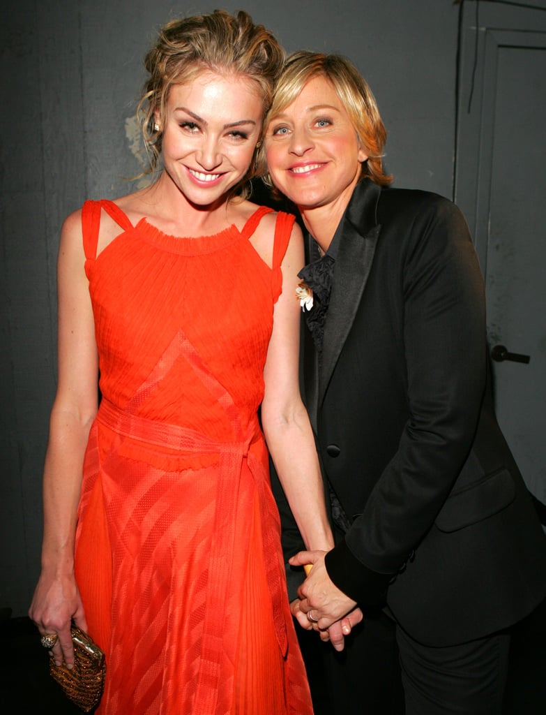 Ellen held Portia's hand during the September 2005 Emmys.