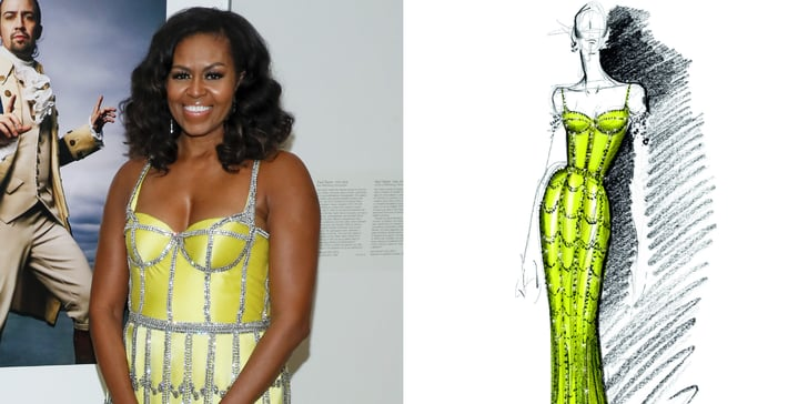 Michelle Obama's Glittering Yellow Gown Is a Straight-Up Work of Art