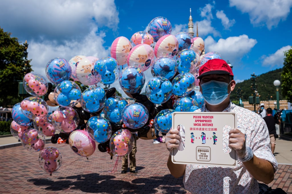 Pictures of Hong Kong Disneyland Reopening Amid Coronavirus